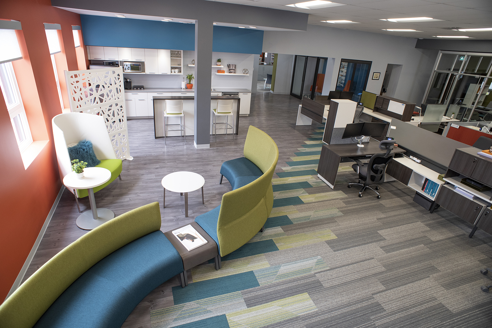 Teknion office furniture at the new Thunder Bay showroom