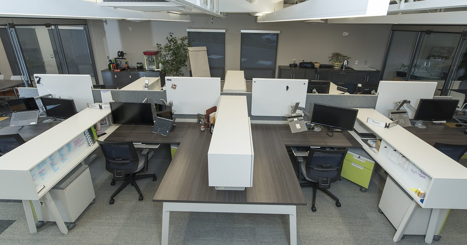 Teknion district office furniture installation