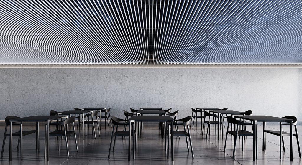 T Grid acoustic ceiling